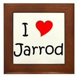 Cute I heart jarrod Framed Tile