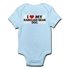 I Love My Karelian Bear Dog Infant Creeper
