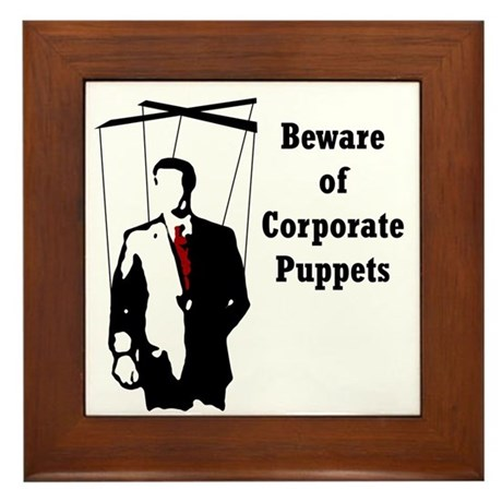 Corporate Puppet Framed Tile