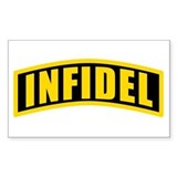 Infidel Rectangle Bumper Stickers