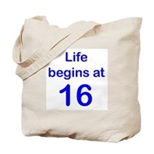 Life Begins at... Tote Bag