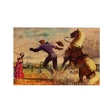 Cowboy Serenade Rectangle Magnet (10 pack)