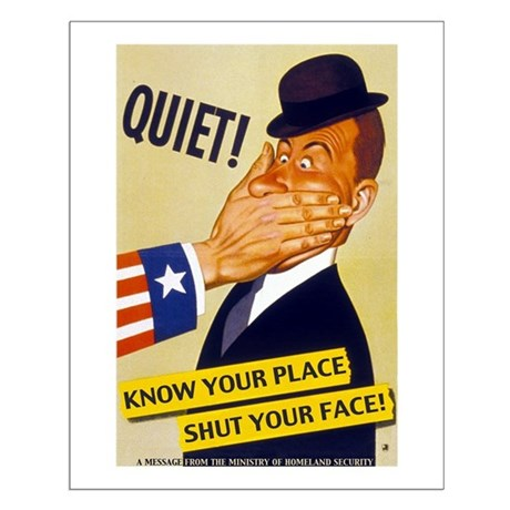 Know your place shut your face poster by warposter