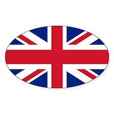 Union Jack Oval Sticker (10 pk)