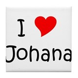 Funny Johana Tile Coaster