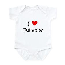 Cute I love juliann Infant Bodysuit