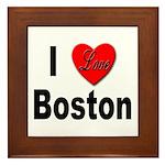 I Love Boston Framed Tile