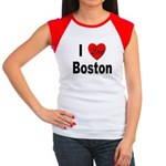 I Love Boston Women's Cap Sleeve T-Shirt