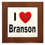 I Love Branson Framed Tile