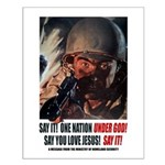 One Nation UNDER GOD! SAY IT! Poster