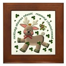Reindeer (Irish & English) Framed Tile