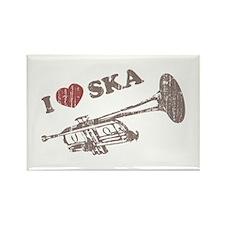 I Love Ska Rectangle Magnet