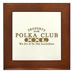 Polka Club Framed Tile