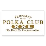 Polka Club Rectangle Sticker
