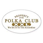Polka Club Oval Sticker
