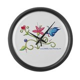 ANGELina's Images Large Wall Clock