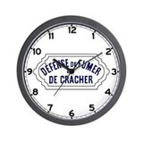 No Smoking or Spitting, France Wall Clock