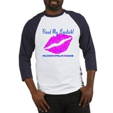 Read My Lipstick Palin Baseball Jersey