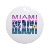 Miami Beach Ornament (Round)