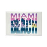 Miami Beach Rectangle Magnet