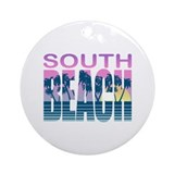 South Beach Ornament (Round)