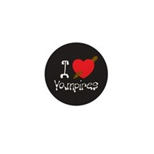 I Love Vampires Mini Button (10 pack)