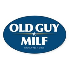 Old Guy/Milf 08 Oval Decal