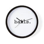 balls. Wall Clock