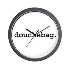 douchebag. Wall Clock