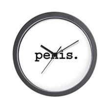 penis. Wall Clock