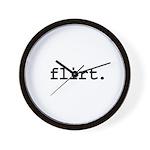 flirt. Wall Clock