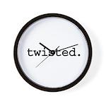 twisted. Wall Clock