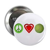 "Peace, Love, Tennis 2.25"" Button"