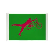 GREEN RED BMX Rectangle Magnet