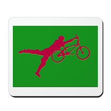 GREEN RED BMX Mousepad