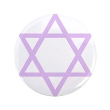 "Lavender Star of David 3.5"" Button"