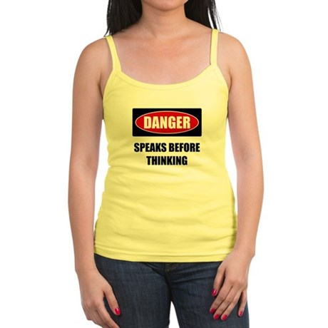 Danger: Speaks Before Thinkin Jr. Spaghetti Tank