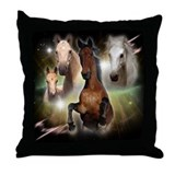 Celestial Horses Throw Pillow