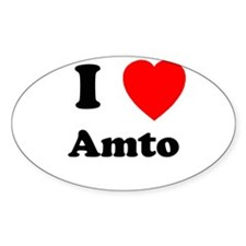I heart Amto Oval Decal