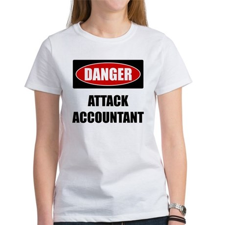 Danger: Attack Accountant Women's T-Shirt