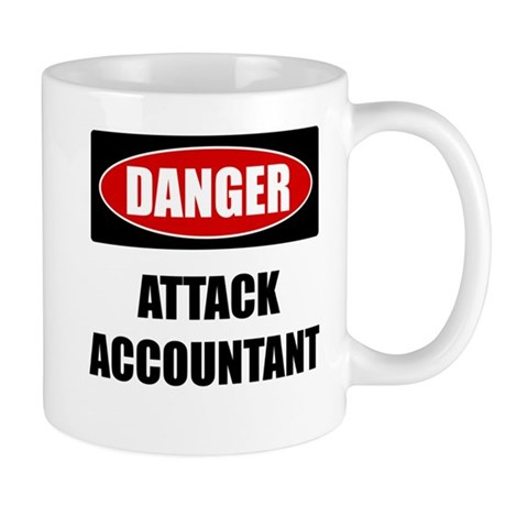 Danger: Attack Accountant Mug