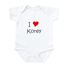 Cute I love korey Infant Bodysuit