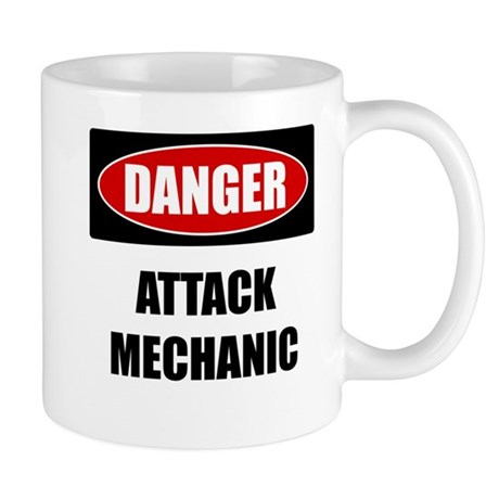 Danger: Attack Mechanic Mug