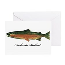 Freshwater Steelhead Trout Greeting Cards (Pk of 2