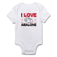 I Love Abalone Infant Bodysuit