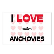 I Love Anchovies Postcards (Package of 8)