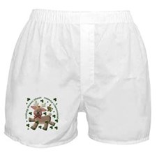Holiday Reindeer (Irish/English) Boxer Shorts