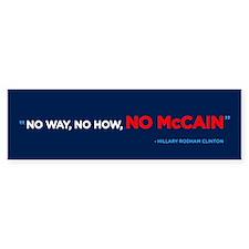 No McCain Bumper Bumper Sticker (10 pk)