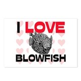 I Love Blowfish Postcards (Package of 8)