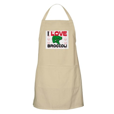 I Love Broccoli BBQ Apron
